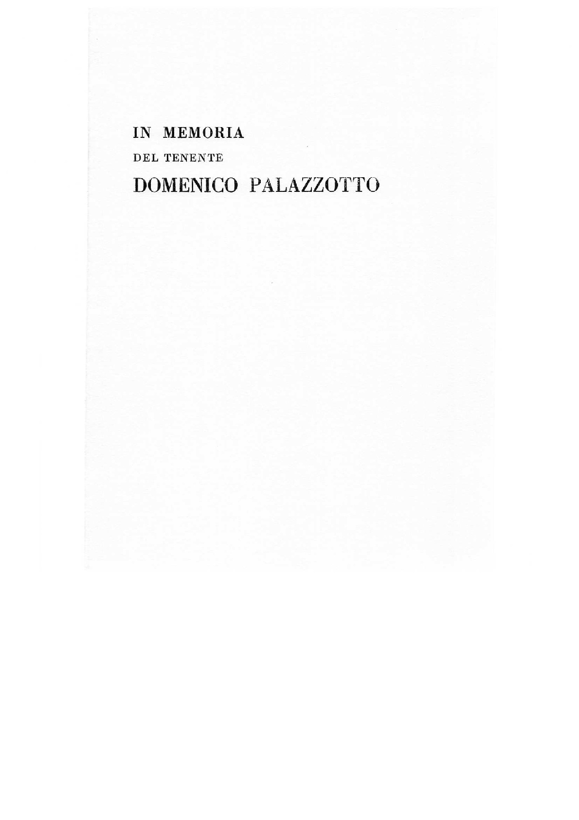 I Memoria del tenente Domenico Palazzotto