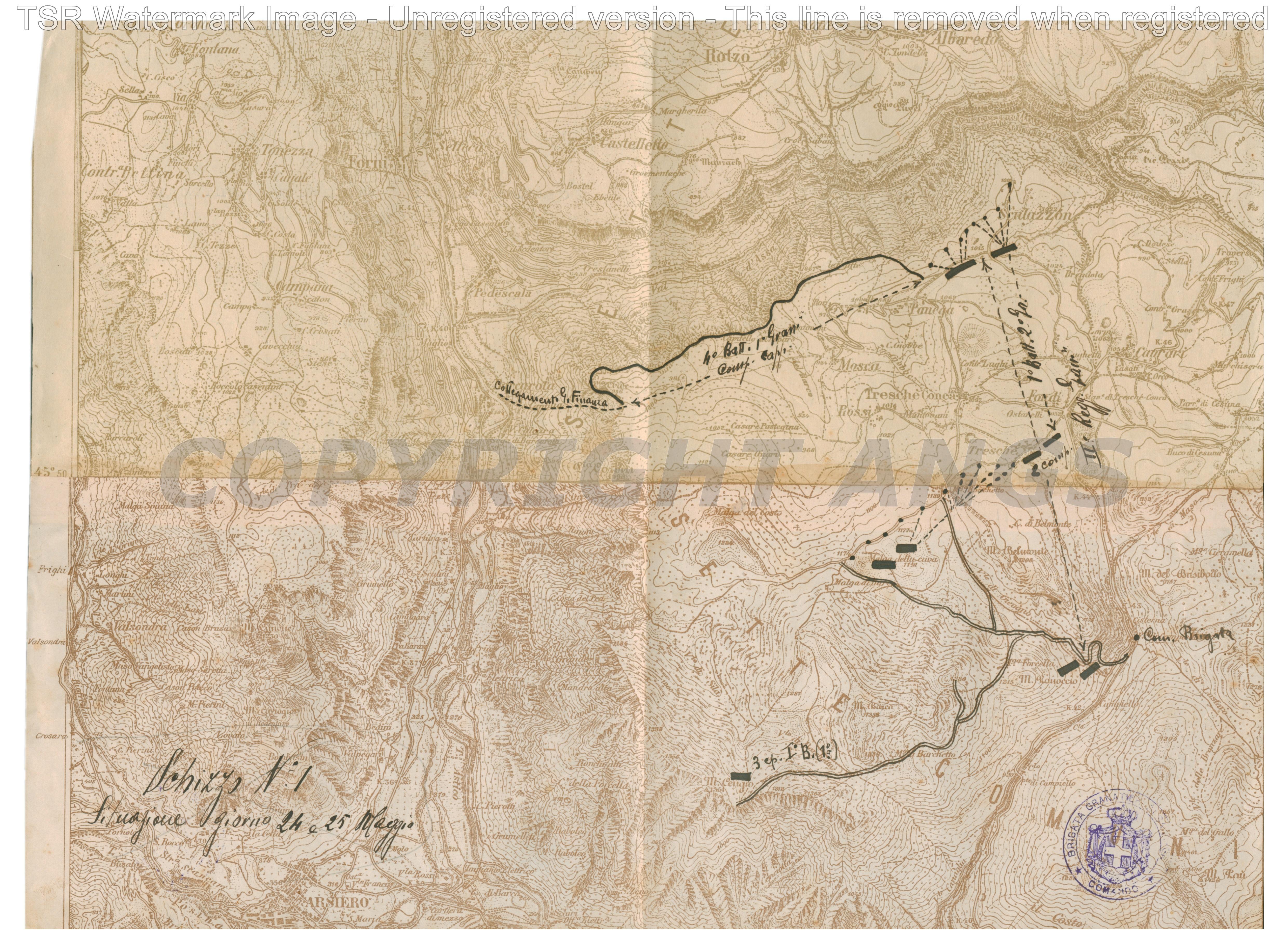 Situazione 24 e 25 maggio 1916