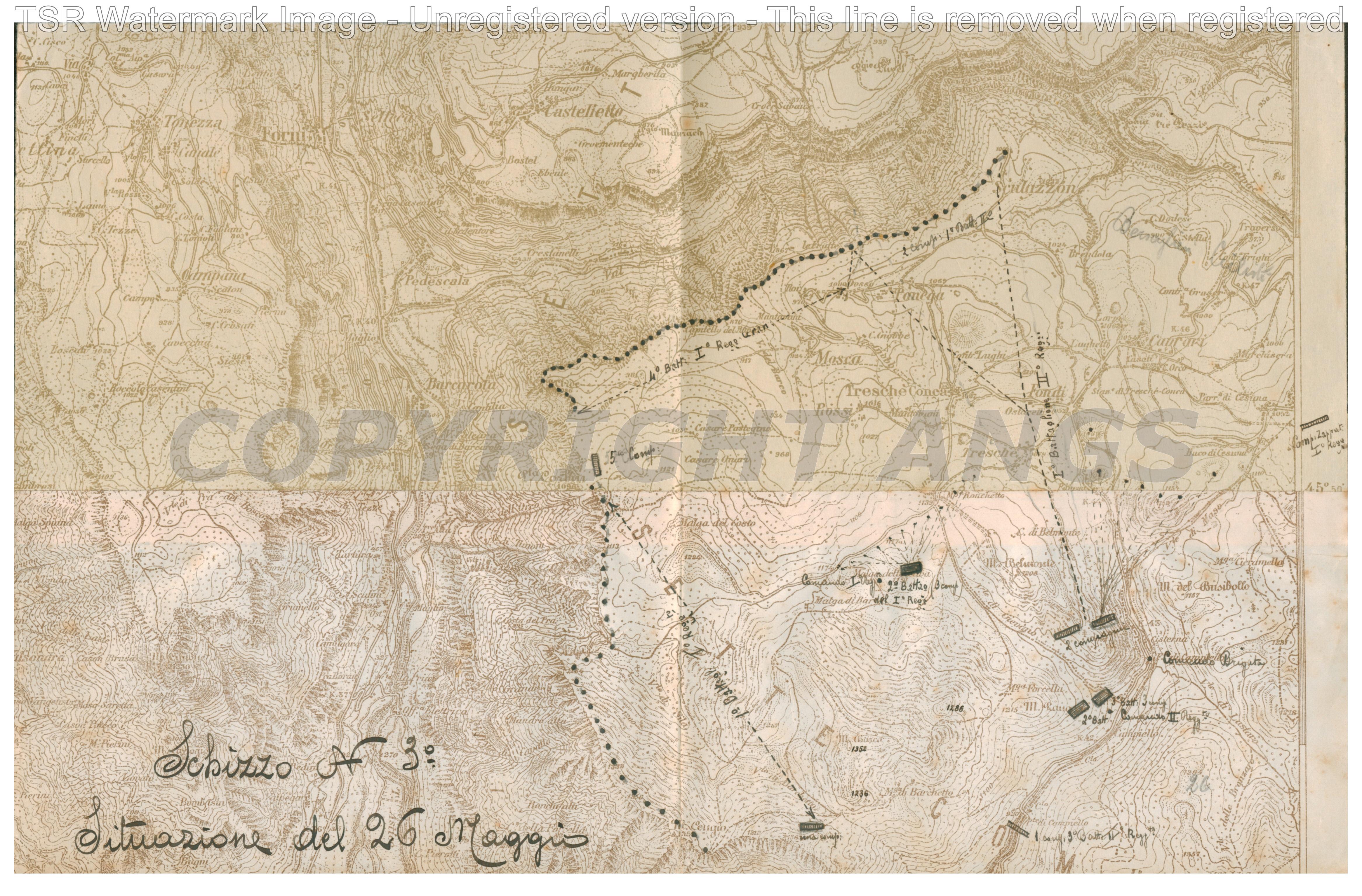 Schizzo n.3 Situazione 26 maggio 1916