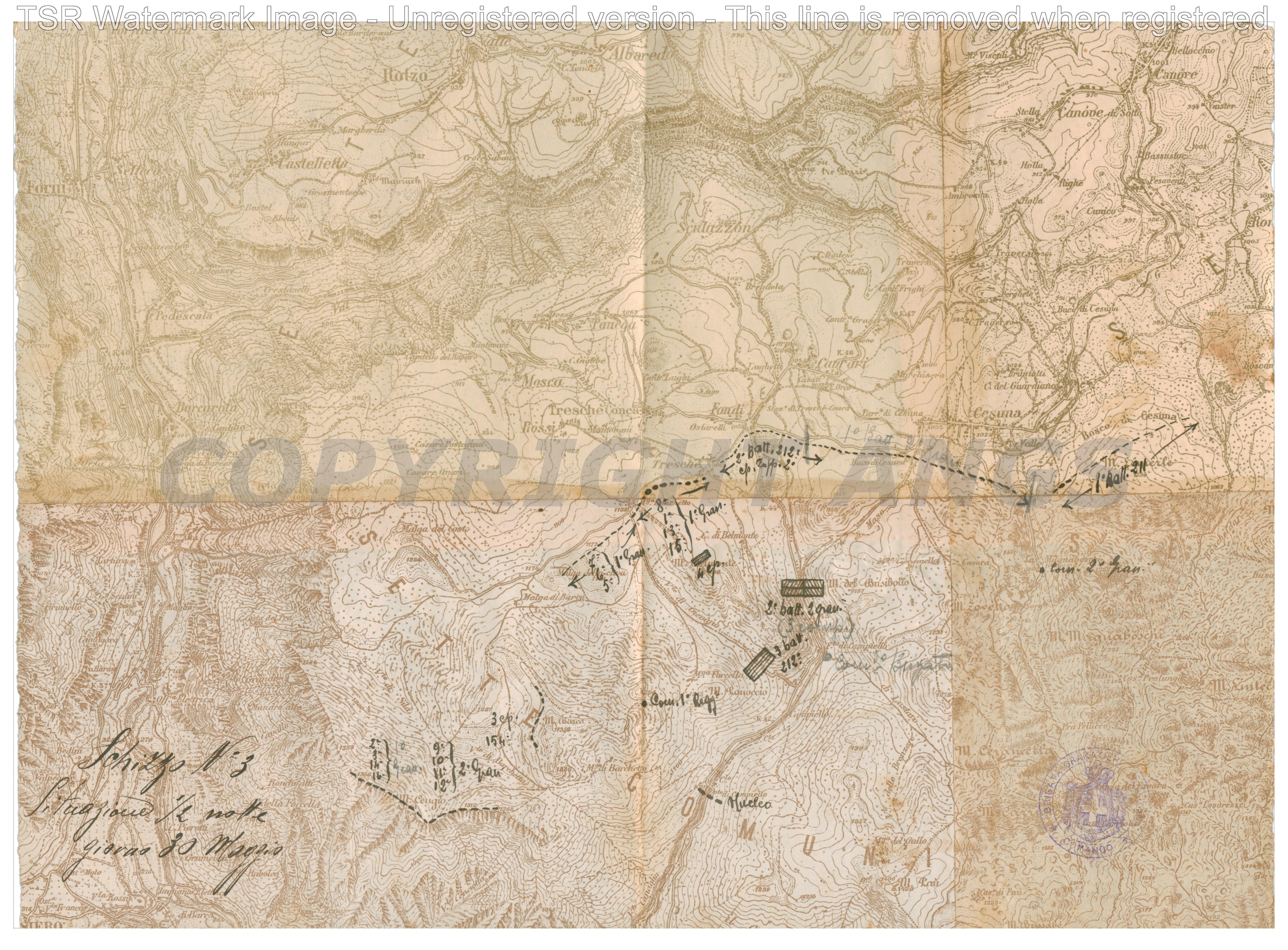 Schizzo n.3 Situazione 30 maggio 1916
