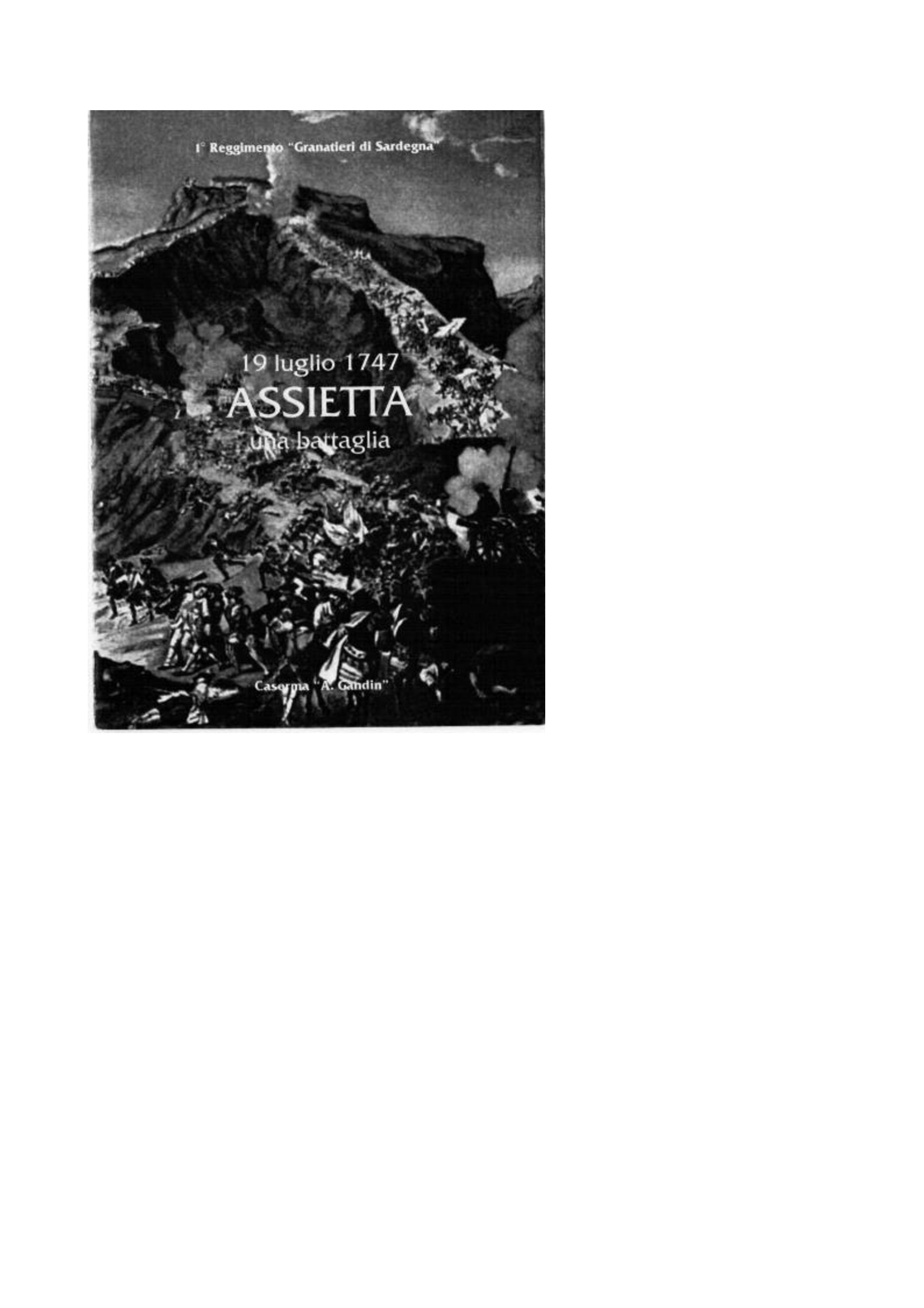 19 luglio 1747 ASSIETTA una Battaglia