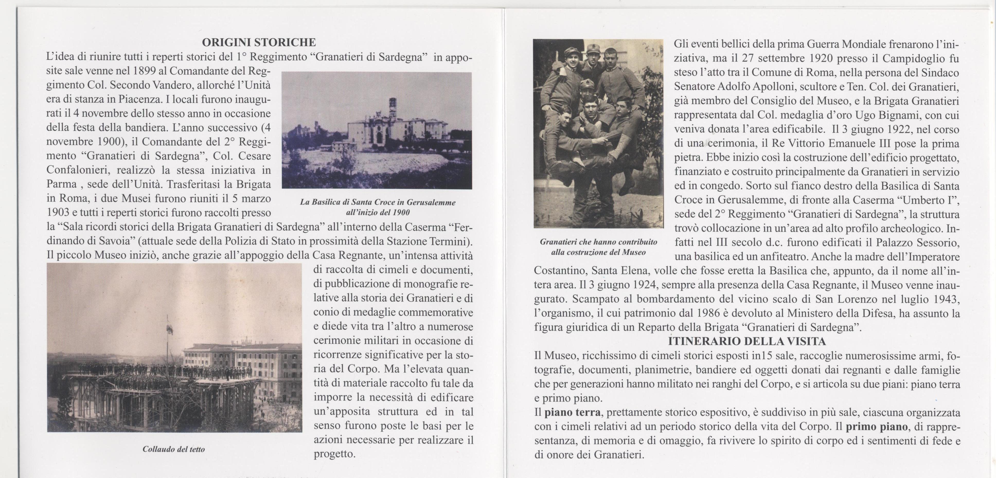 Locandina visita Museo Storico Granatieri di Sardegna -Parte 2^