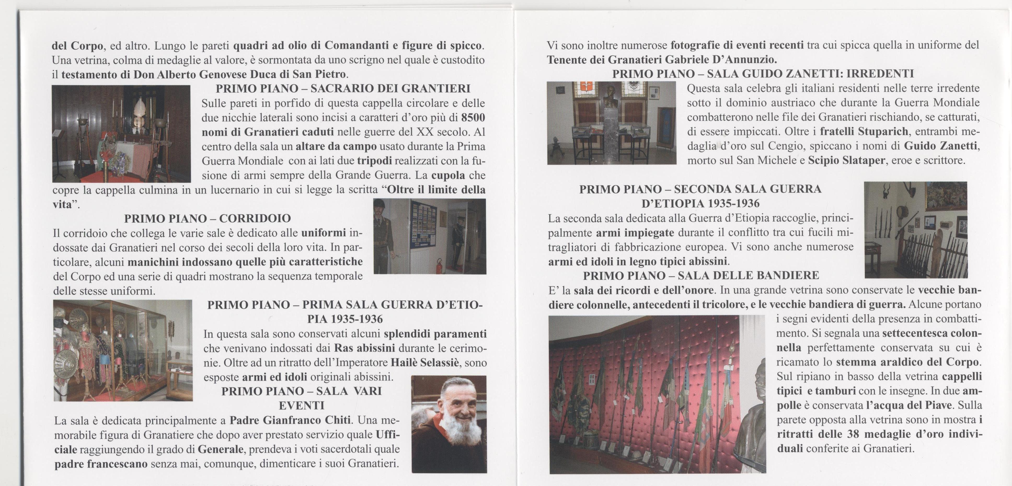 Locandina visita Museo Storico Granatieri di Sardegna -Parte 4^