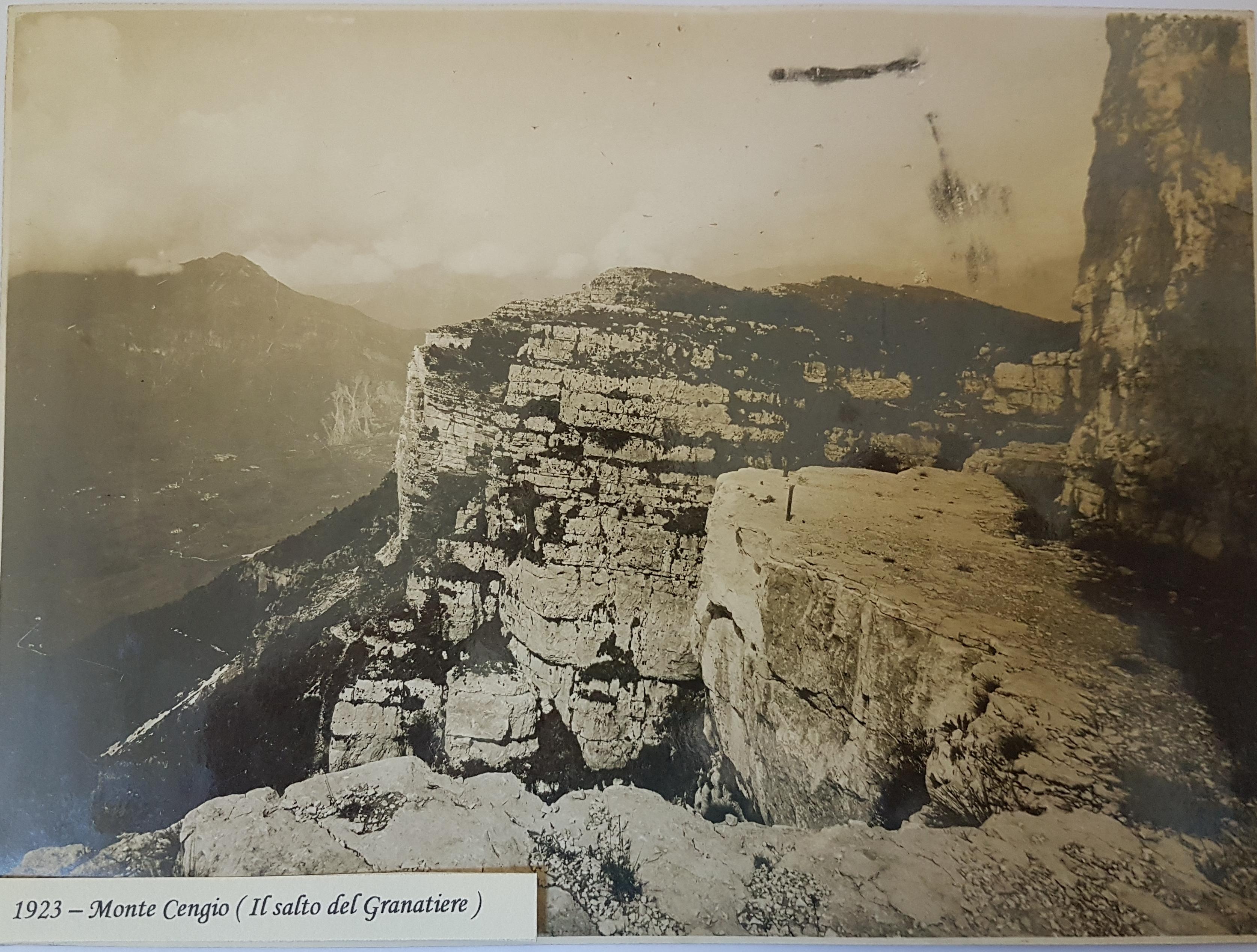 Monte Cengio - Salto del Granatiere 1923