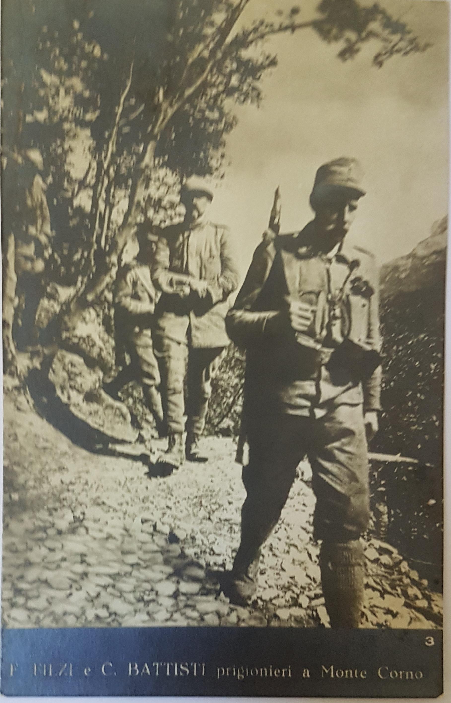 Filzi e Battisti prigionieri a Monte Corno