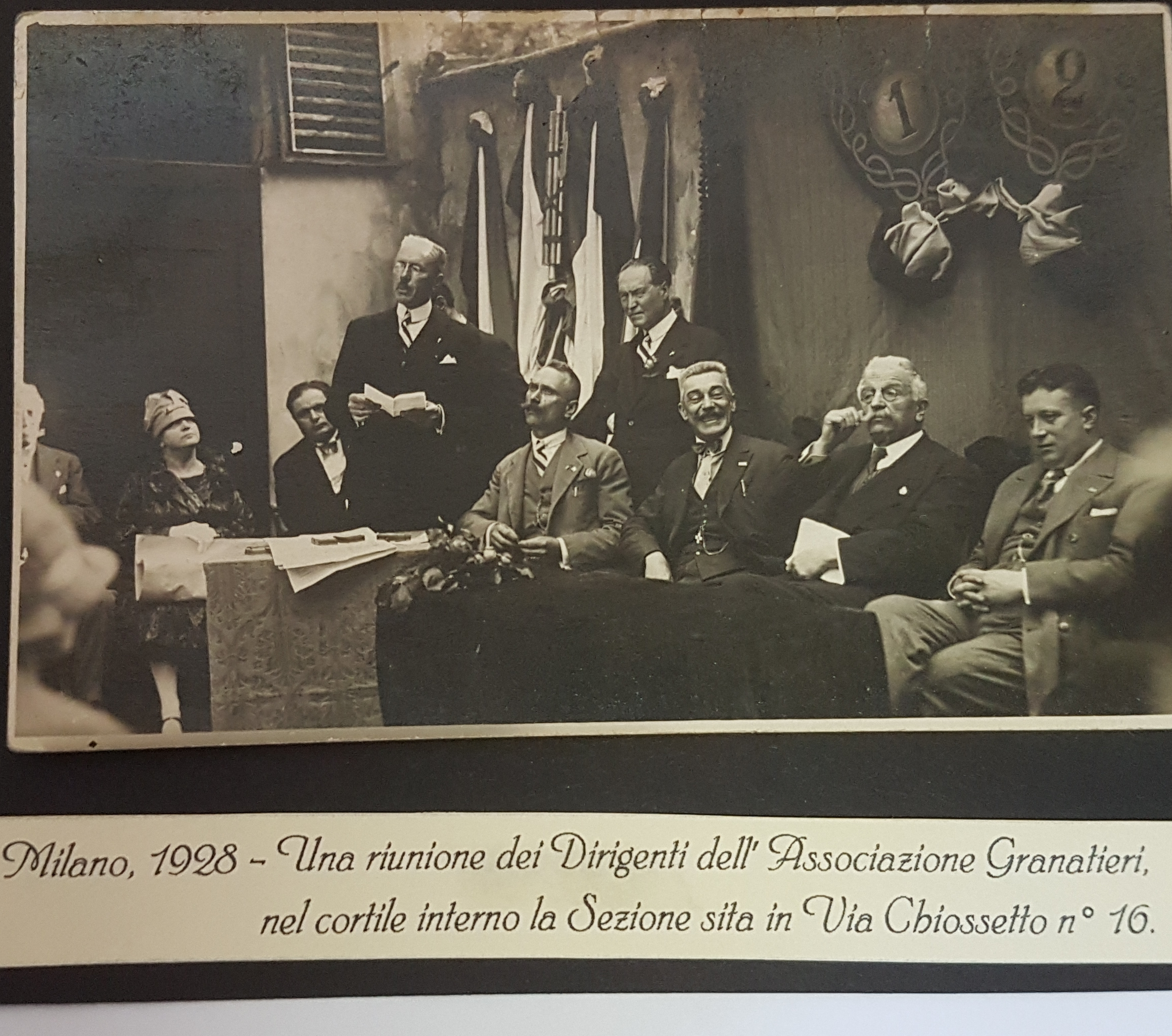 1928 - riunione dirigenti Associazione in Milano
