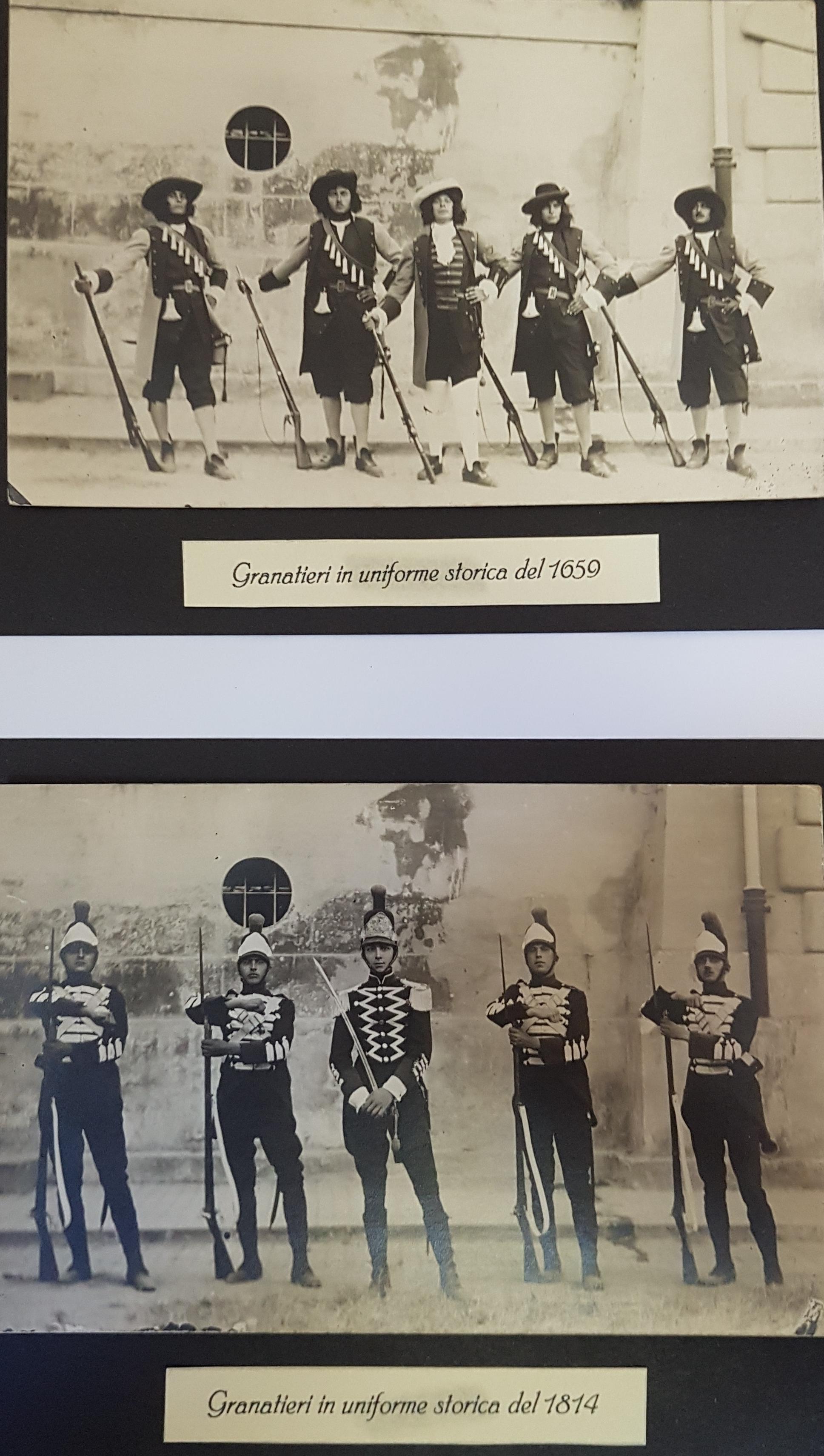 Uniformi storiche 1659 e 1814