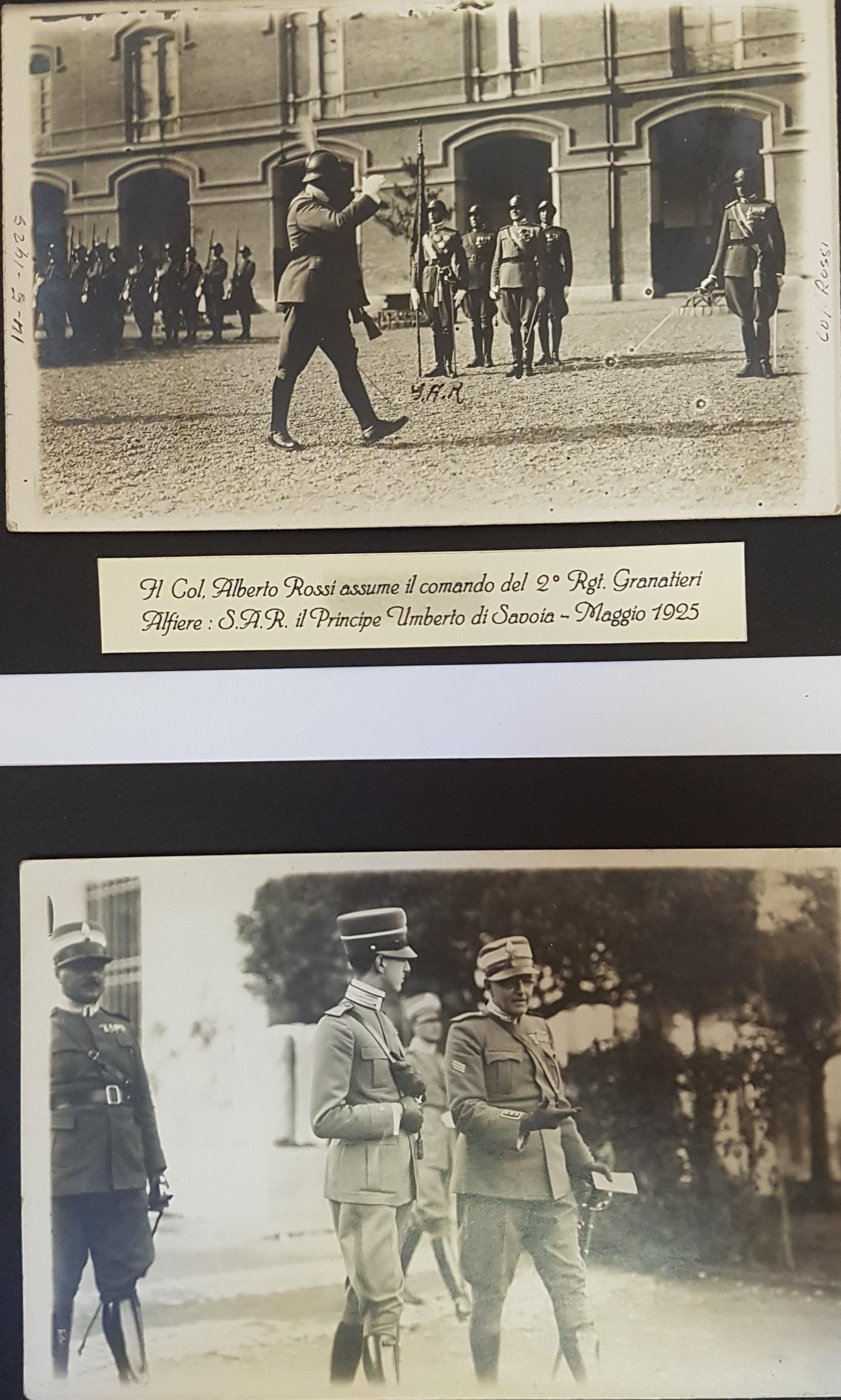 Maggio 1925 assunzione comando 2° rgt - Col Alberto Rossi