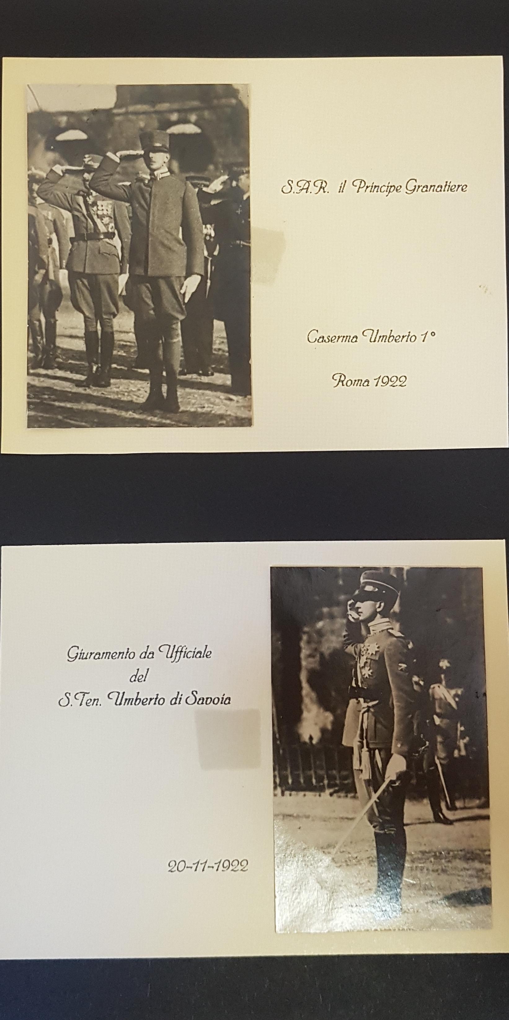 1922 - Giuramento da Ufficiale di S.A.R. il Principe Umberto