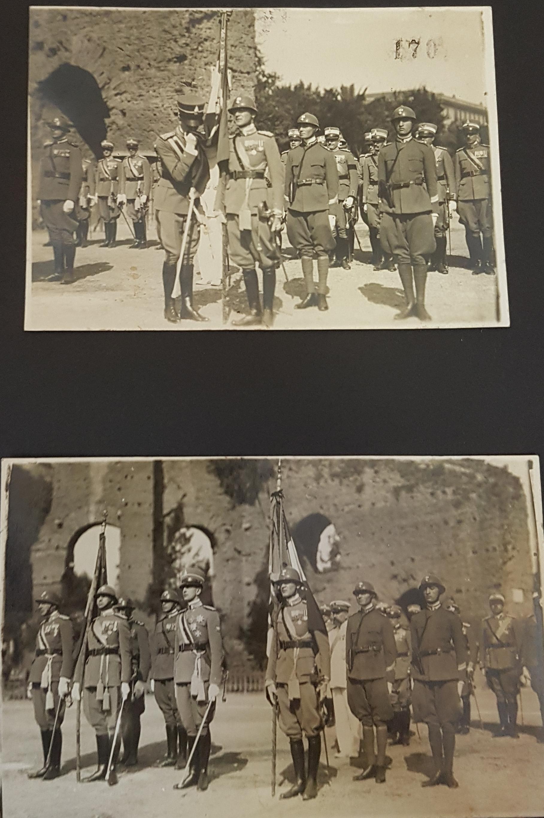 Roma genetliaco del Re - Bandiere di Guerra del 1° e 2° rgt Granatieri di Sardegna