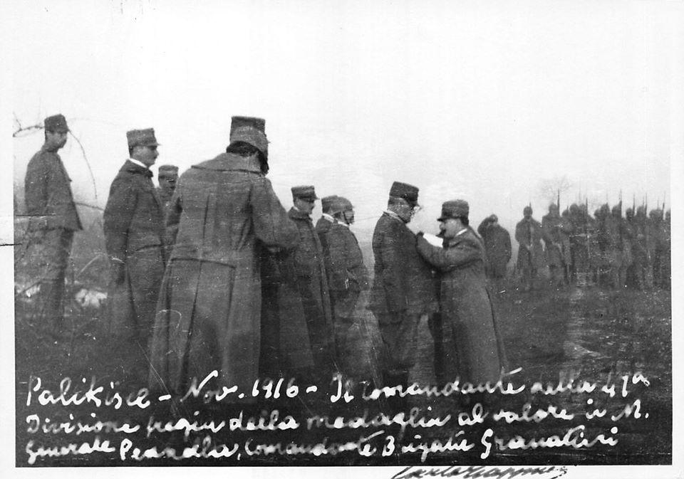 M.A.V.M. al Gen. Pennella novembre 1916