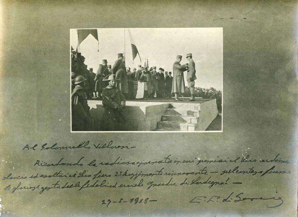 M.A.V.M.Col Villoresi 29 gennaio 1918