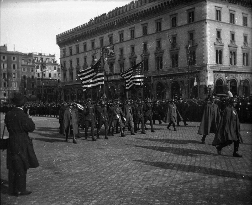 Visita del Presidente Wilson in Italia gennaio 1919.