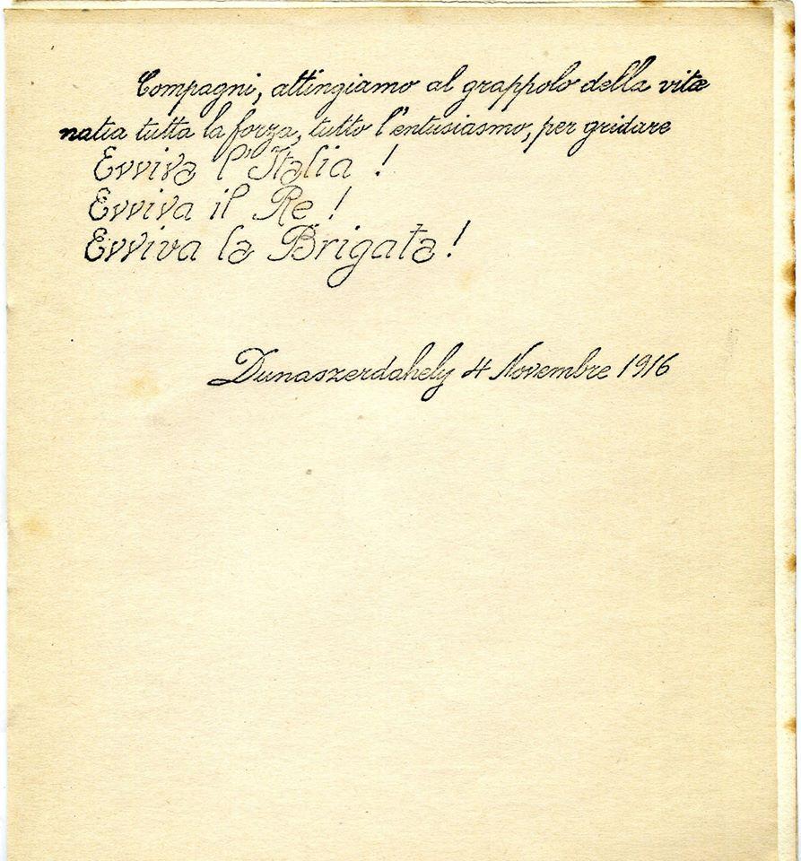 Parole del Gen. Bignami novembre 1916